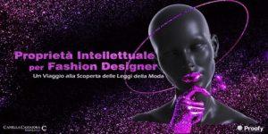Proprietà intellettuale per Fashion designer - locandina evento