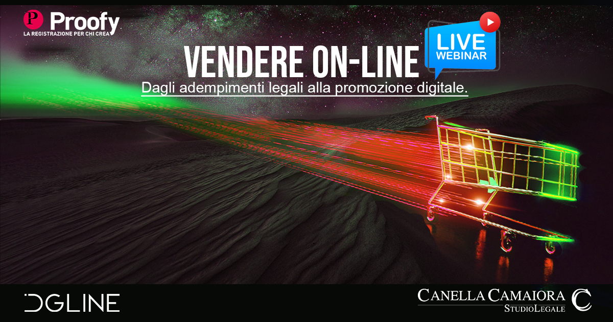 Locandina evento Vendere online